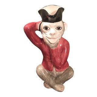 1970s Mottehedah Monkey Pitcher For Sale
