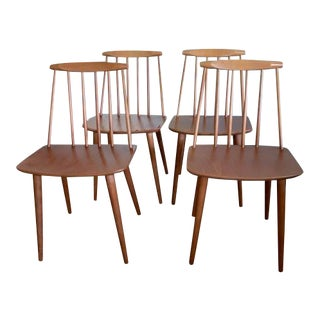 Folke Palsson for Fdb Mobler Mid Century Model J77 Chairs Circa 1970s - Set of 4 For Sale