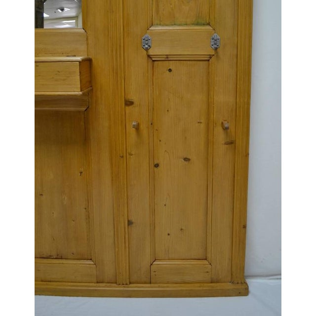 Late 19th Century Pine Paneled Hallstand With Mirror For Sale - Image 5 of 9