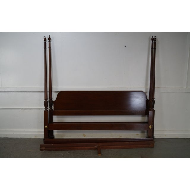 Baker Mahogany Chippendale Style King Size Poster Bed - Image 8 of 10