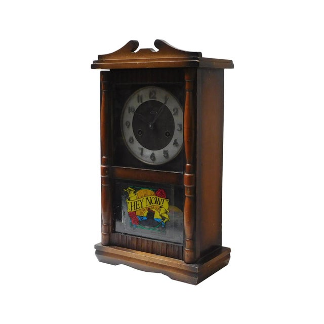 This is a vintage old Shanghai European style clock which is handmade of solid elm wood. Its has pendulum running engine...