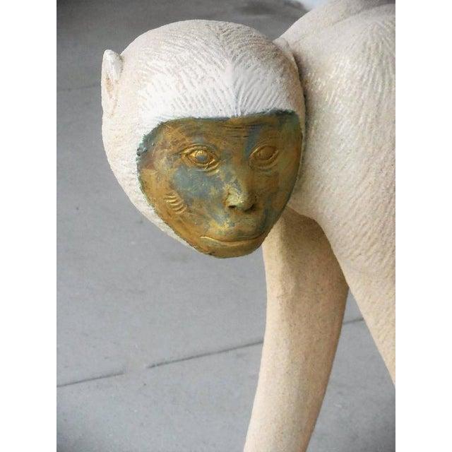 Large Modernist Monkey Sculpture, Manner of Lalanne - Image 5 of 6