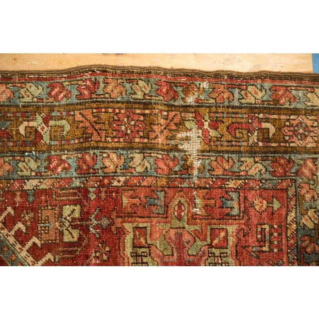 "Textile Vintage Distressed Karaja Rug Runner - 3' X 9'5"" For Sale - Image 7 of 12"