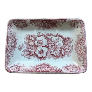 French Porcelain Soap Dish For Sale