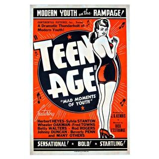 "Original ""TEEN AGE"" Film Poster -1944"