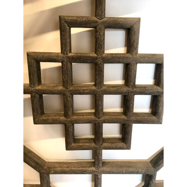 Set of Four 19th Century Japanese Lattice Wooden Panels For Sale In Los Angeles - Image 6 of 13