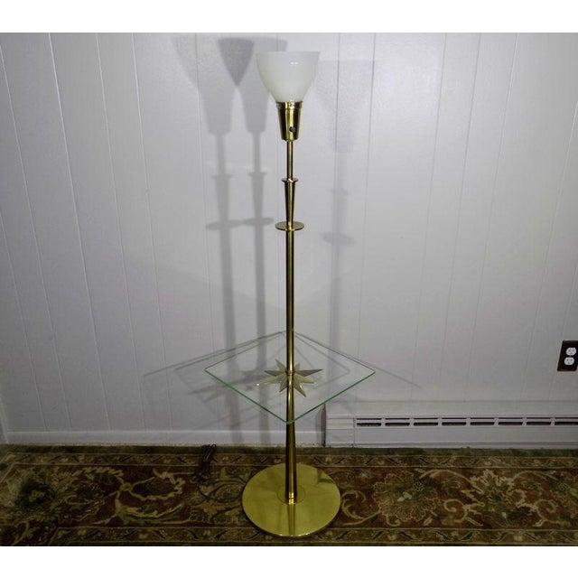 1960s Mid-Century Modern Stiffel Starburst Brass Torchiere Floor Lamp For Sale - Image 13 of 13