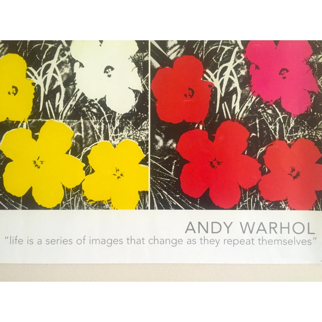 """Andy Warhol Foundation Vintage Pop Art Poster Print """" Flowers """" 1964 / 1967 For Sale - Image 9 of 13"""