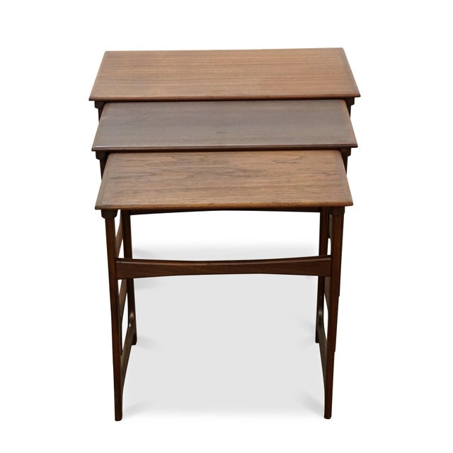 "Danish Modern Danish Modern Nesting Tables - ""Taastrup"" For Sale - Image 3 of 7"