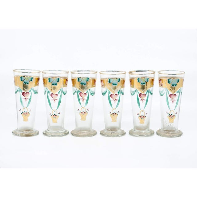 Glass Early 20th C. Victorian Lemonade/Juice Glasses - Set of 7 For Sale - Image 7 of 13