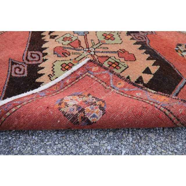 Mid-20th C. Vintage Antique Tribal Oushak Hand Knotted Turkish Rug - 2'5 X 2'4 - Image 5 of 5