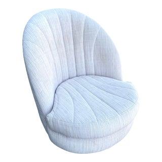 Midcentury Milo Baughman Swivel Chair For Sale