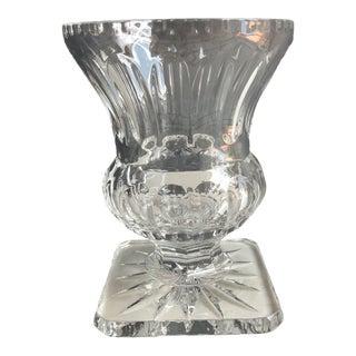 1960s Nieman Marcus Crystal Vase For Sale
