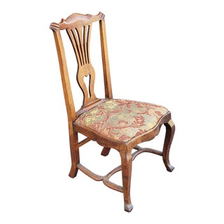 Antique Early 19th Century Georgian Chippendale Style Mahogany Side Chair C1820 For Sale