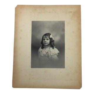 Antique 19th-Century Photograph Portrait of a Girl For Sale