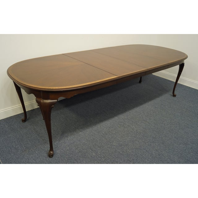 Statton Furniture Banded Mahogany Dining Table For Sale In Kansas City - Image 6 of 11
