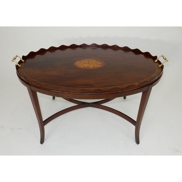 Kittinger Kittinger Inlaid Mahogany Serving Table For Sale - Image 4 of 13