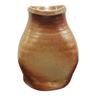 Mid 20th Century Japanese Shino Ware Pinched Vase For Sale