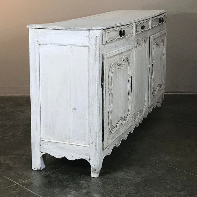 Late 18th Century 18th Century Country French Whitewashed Buffet For Sale - Image 5 of 13