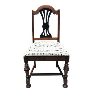 """Mudcloth Inspired Chair - """"The Waffles Chair"""" For Sale"""