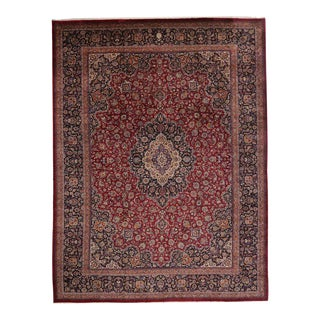 Vintage Persian Mashhad Palace Rug - 16'09 X 22'02 For Sale