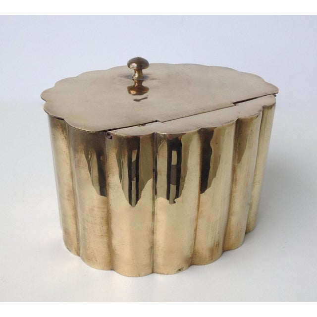Brass Moorish-Style Tea or Biscuit Container For Sale - Image 4 of 11