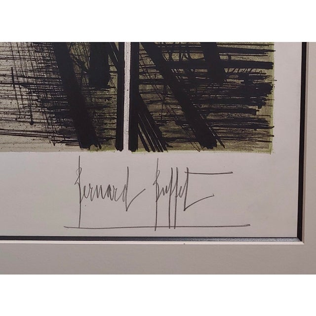 French Bernard Buffet - French Street -Original 1961 Artist Proof Lithograph For Sale - Image 3 of 10