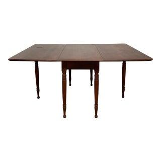 1930s Vintage Mt. Vernon Cherry Wood Drop Leaf Table For Sale
