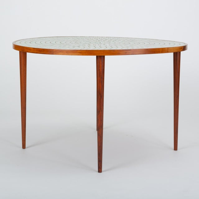 Wood Tile-Top Walnut Dining Table by Gordon & Jane Martz for Marshall Studios For Sale - Image 7 of 13