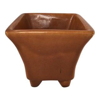1970s Vintage Copper Color Porcelain Planter For Sale