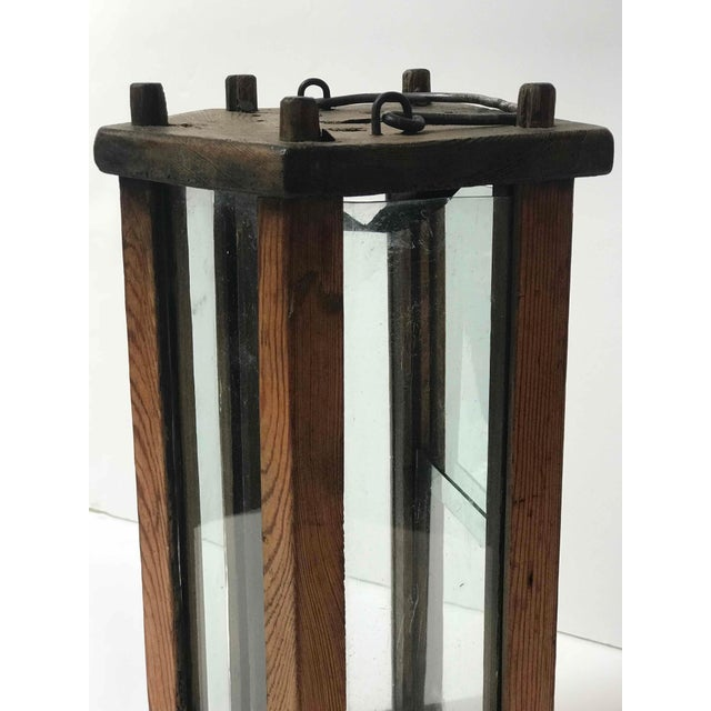 Mid-Century Modern Late 19th Century Swedish Wooden Lantern For Sale - Image 3 of 5