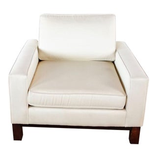 Room & Board White Upholstered Armchair For Sale