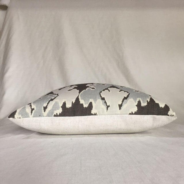 Kim Salmela Brown/ & Gray Ikat Pillow - Image 2 of 3