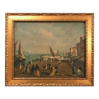 18th Century Giacomo Guardi Old Master Painting of Venetian Lagoon For Sale