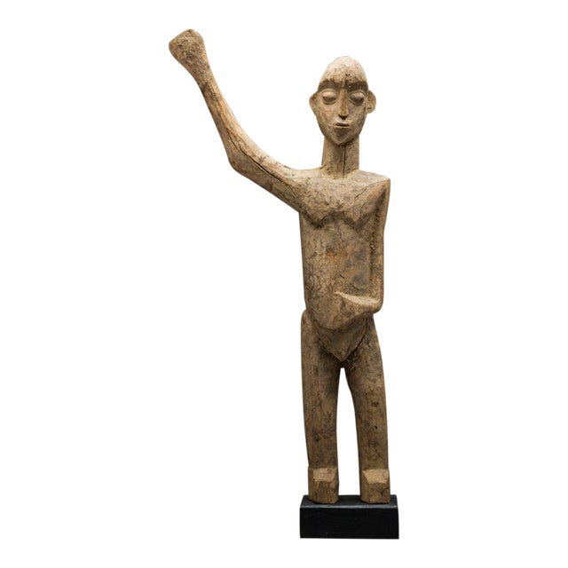 Lobi Sculpture of a Man With Upraised Arm For Sale