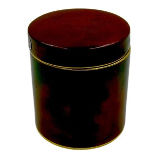 Vintage English Carlton Ware Rouge Royale Covered Box For Sale