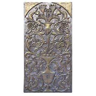Giltwood Silver and Gold Panel, Circa 1930s For Sale