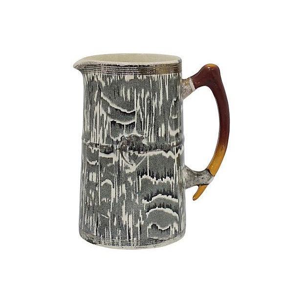 1930s Silver Shield Faux Bois Jug For Sale - Image 5 of 5