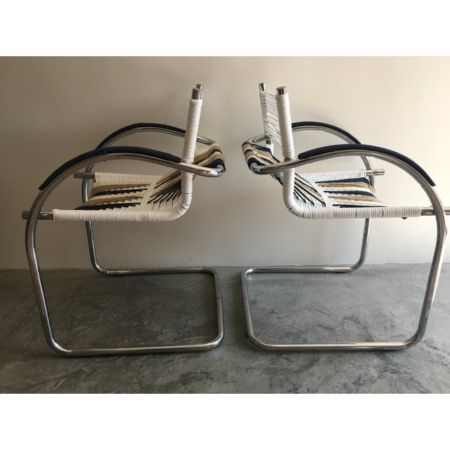 Upcycled Chrome Macrame Chairs - Pair - Image 4 of 6