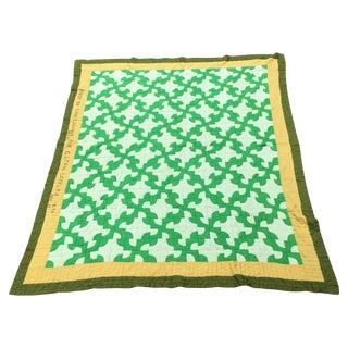 Vintage Handmade Cotton Quilt For Sale