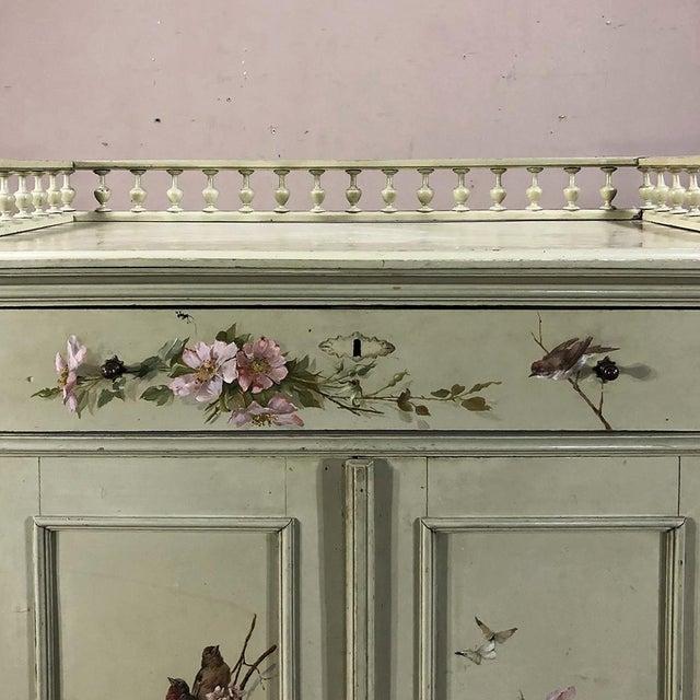 Paint Antique Belle Epoque Painted Cabinet For Sale - Image 7 of 13