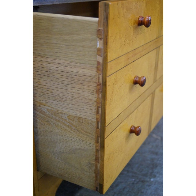 American Artech by Hickory Kaylyn Low Birdseye Maple Chest For Sale - Image 10 of 10
