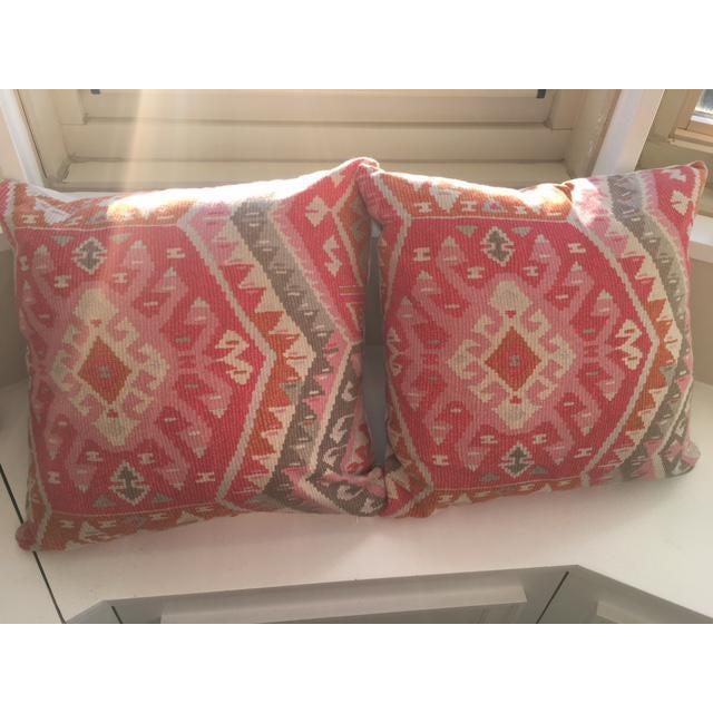 Aztec Print Throw Pillows - A Pair - Image 2 of 3