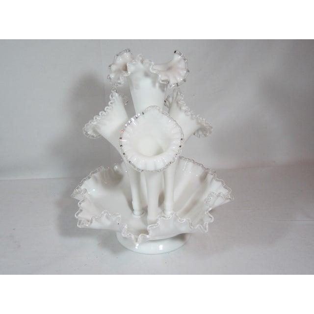 Fenton Epergne Ruffled Vase - Image 2 of 8