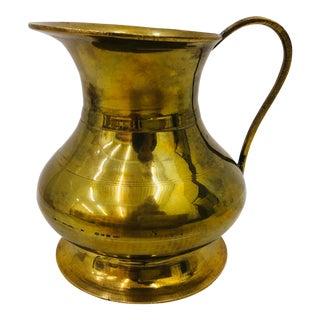 Vintage Gold Brass Pitcher For Sale