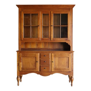 Country Ethan Allen Crossings China Hutch For Sale