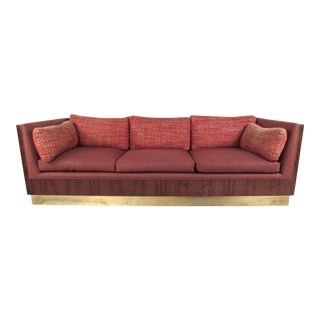 Mid-Century Modern Rosewood Sofa by Milo Baughman For Sale