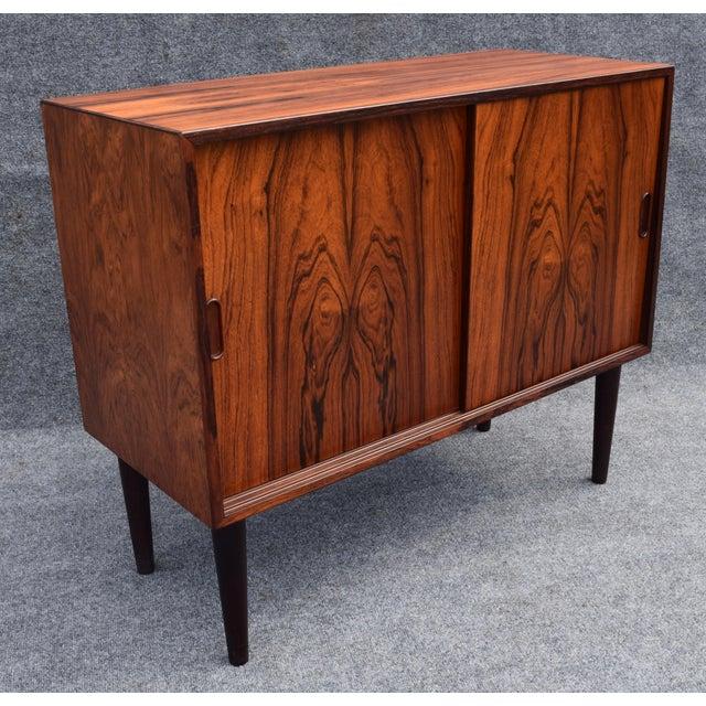 Vintage Danish Mid Century Modern Rosewood Record Cabinet - Image 7 of 9 - Vintage Danish Mid Century Modern Rosewood Record Cabinet Chairish