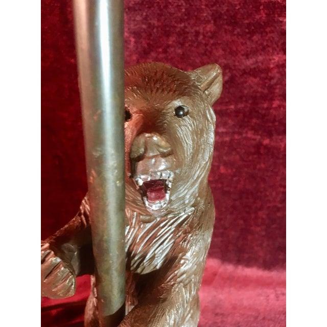 Vintage Black Forest Bear Table Lamp For Sale In Nashville - Image 6 of 13
