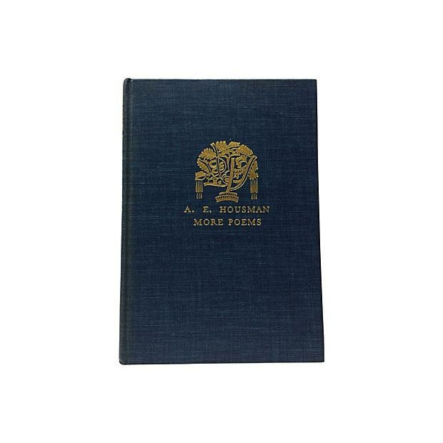 More Poems by A. E. Housman. New York: Alfred A. Knopf, 1936. Hardcover with dust jacket. Gilt edges on top of pages. 74...